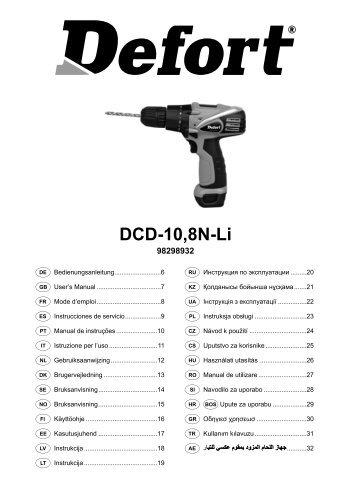 Manual DCD-10,8N-Li (W2-716-CTP-1).indd - Defort