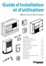 Guide d'installation et d'utilisation Alarme