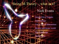 String/M Theory – what is it? Nick Evans