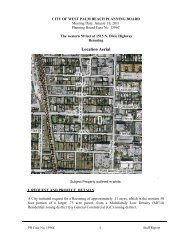 Planning Board Case No. 1596C - City of West Palm Beach