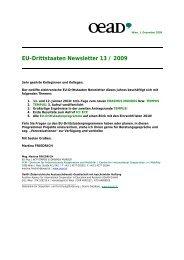 EU-Drittstaaten Newsletter 13 / 2009