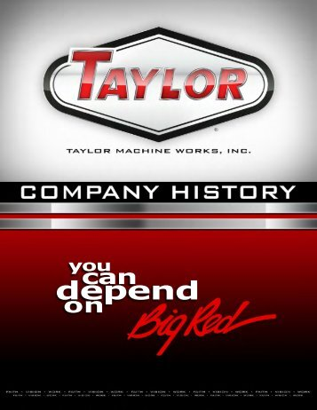 PDF - Taylor Machine Works
