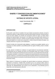 Diseño y Construcción de Cimentaciones. Segunda Parte