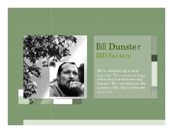 Bill Dunster - Conway Creations