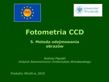 Fotometria CCD 5. Metoda odejmowania obrazów - helas