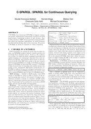 C-SPARQL: SPARQL for Continuous Querying - LarKC