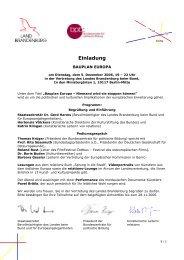 Einladung und Programm - Projekt Relations
