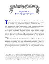 Rubrics for the Divine Liturgy of St. James - St. Anthony's Monastery