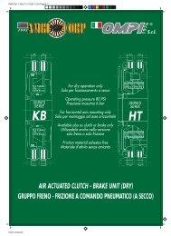 air actuated clutch - brake unit - Arten Freios e Embreagens Industriais