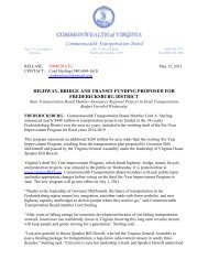 Agenda item # 8 - Caroline County!