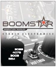 Studio Electronics Boomstar Manual 1