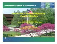 Use of FTIR in Extraction/Recovery of Asphalt Binders - Petersen ...