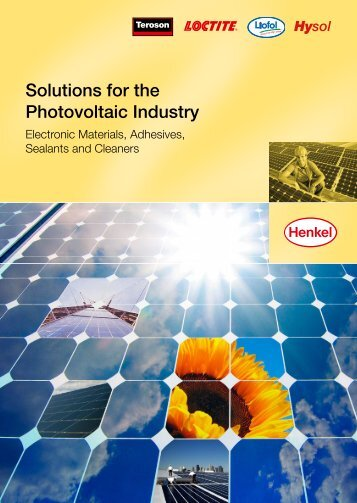 Solutions for the Photovoltaic Industry (PDF) - Henkel