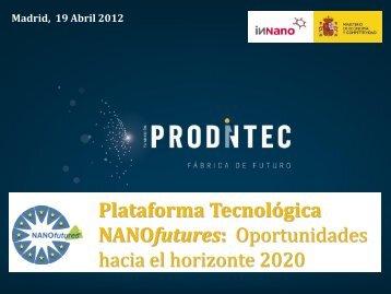 Plataforma Europea NANOfutures - Fundación Prodintec