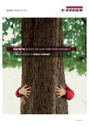 Growth BASED ON OUR OWN PERFORMANCE