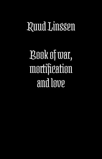 Book of war, mortification and love PDF - Underware