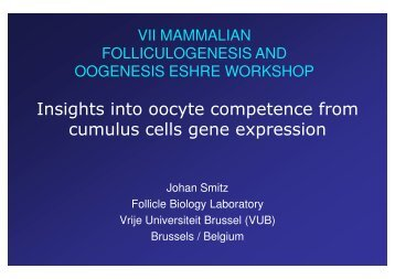 Insights into oocyte competence from somatic cells gene ... - eshre