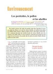 Les pesticides, le pollen, et les abeilles - Apiservices
