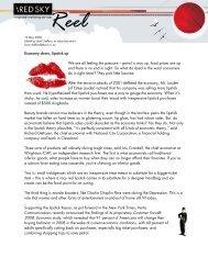 Red Sky Reel Blog - 12 May 2008