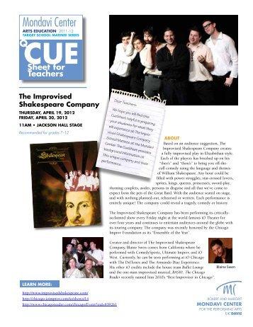 The Improvised Shakespeare Company - Mondavi Center - UC Davis