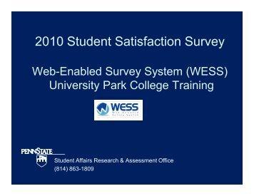 Training document for University Park - Student Affairs