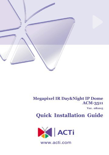 Acti Acm 5601 Manual