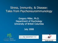 Gregory Miller: Stress, the Immune System, and Disease
