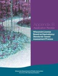 Appendix B: Wisconsin License Based on Equivalency - Teacher ...