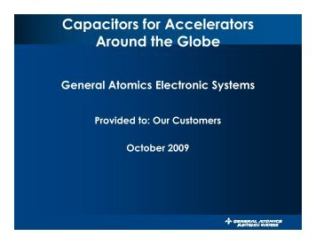 Capacitors for Accelerators Around the Globe - AMS Technologies