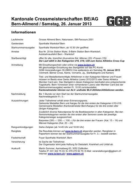 Kantonale Crossmeisterschaften BE/AG - ALV