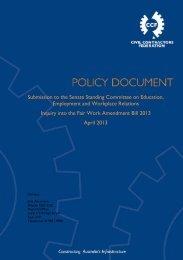 Submission to FWA Inquiry - April 2013 - Civil Contractors Federation