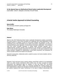 A Social Justice Approach to School Counseling - Psychologists for ...