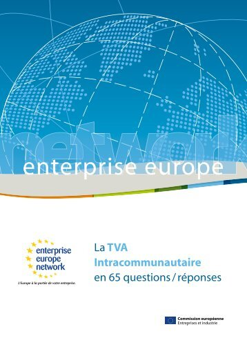 TVA intracommunautaire - Entreprise Europe Ouest