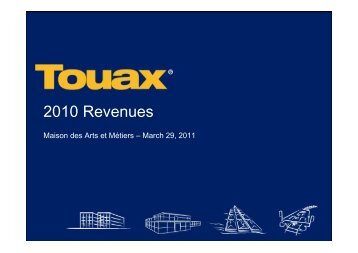 Financial Analyst meeting at March 29th, 2011 - touax group