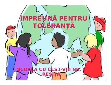 ÎMPREUNĂ PENTRU TOLERANŢĂ - Salvati Copiii