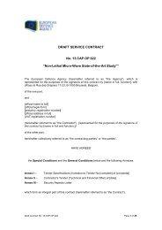 13.CAP.OP.622 Draft Contract - European Defence Agency - Europa