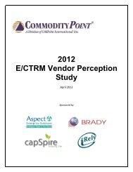 2012 E/CTRM Vendor Perception Study