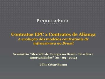 Contratos EPC x Contratos de Aliança - Cogen