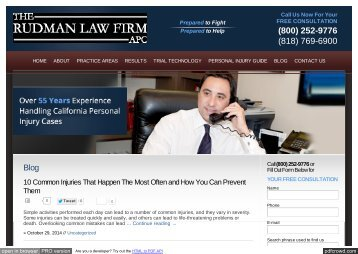 Personal Injury Lawyer Blog