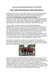 Bericht zum Nordstrand-Marathon 08 - Rhein-Neckar-Speed