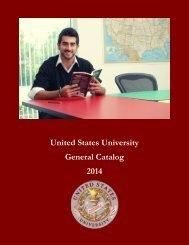 2013 - 2014 GENERAL CATALOG - US University