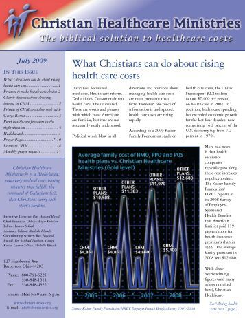 July 2009 - Christian Healthcare Ministries