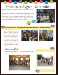 Newsletter August - September