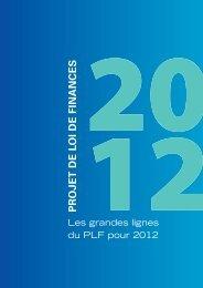 Les grandes lignes du PLF pour 2012 - economie.gouv