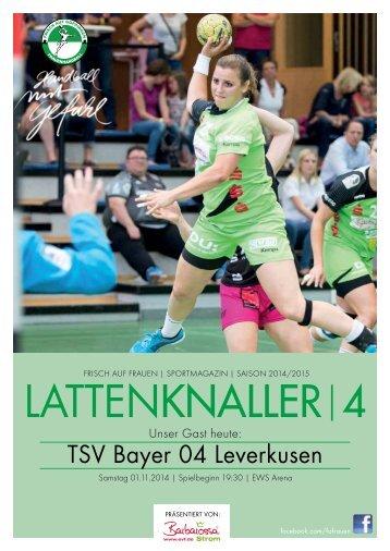 LATTENKNALLER|4 - GAST: TSV Bayer 04 Leverkusen - 01.11.2014 - SAISON 2014/2015