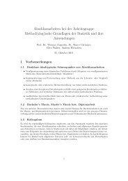Abschlussarbeiten bei der Arbeitsgruppe ... - Institut für Statistik