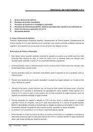 protocol de functionare cpu - Spitalul Clinic Municipal de Urgenta ...