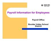 Payroll Information for Employees - Boulder Valley School District