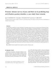 Presence–absence surveys of prey and their use in predicting leopard