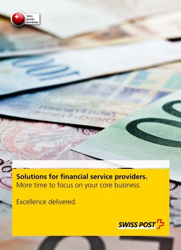Solutions for financial service providers.
